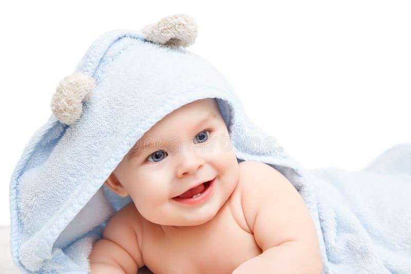 逗人喜爱的爬行的婴孩 免版税库存图片
