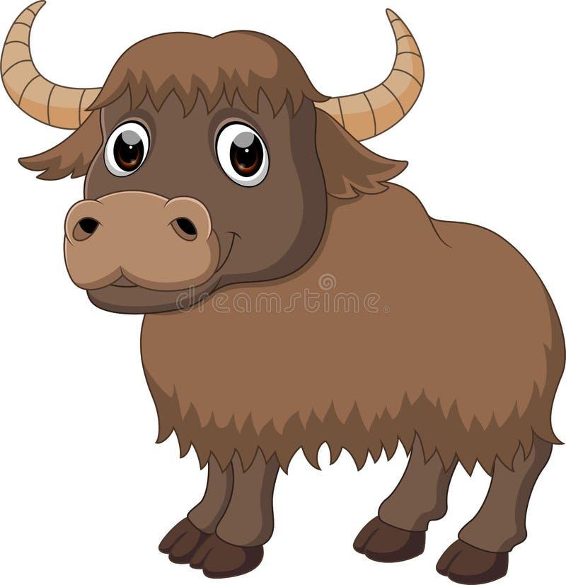 逗人喜爱的牦牛动画片 皇族释放例证