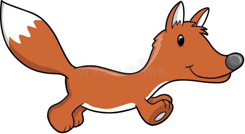 逗人喜爱的狐狸例证向量 向量例证