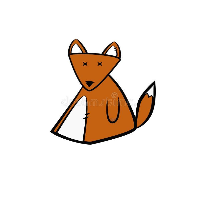 逗人喜爱的狐狸婴孩玩具 库存图片