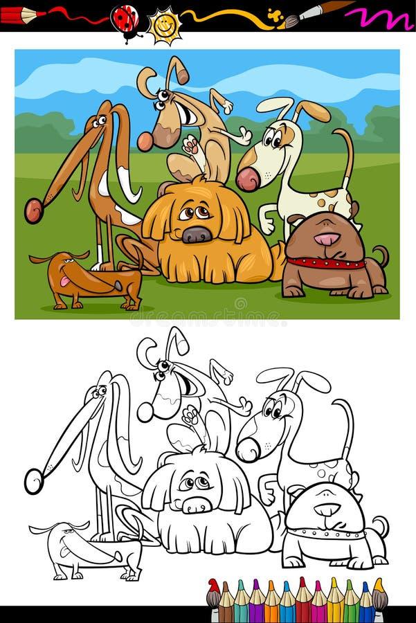 逗人喜爱的狗动画片彩图 皇族释放例证