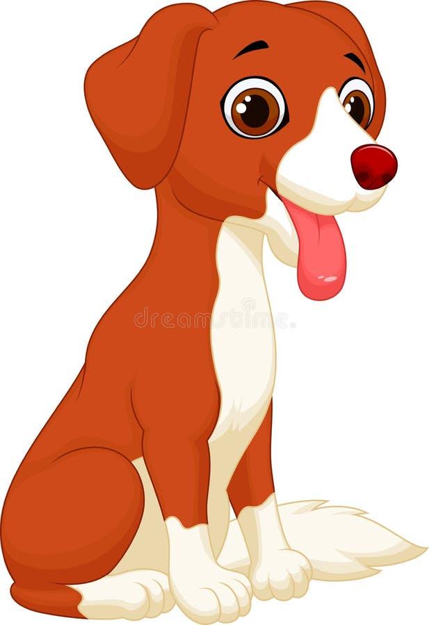 逗人喜爱的狗动画片 向量例证