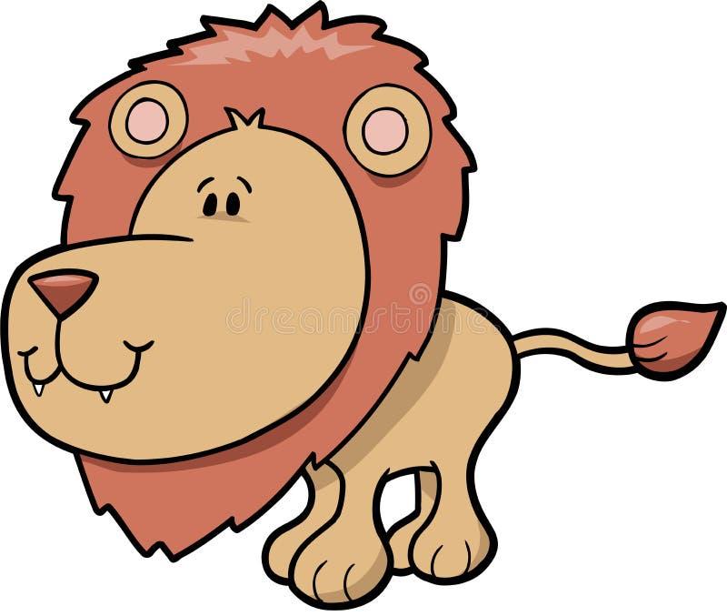 逗人喜爱的狮子徒步旅行队 库存图片
