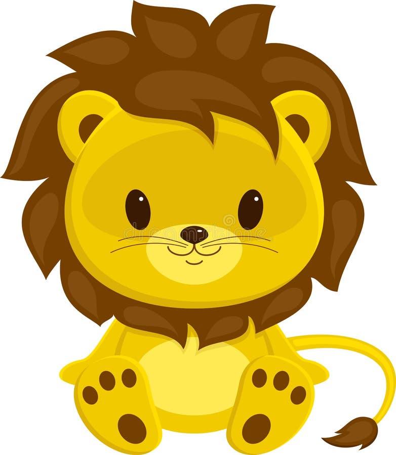 崽逗人喜爱的狮子 向量例证