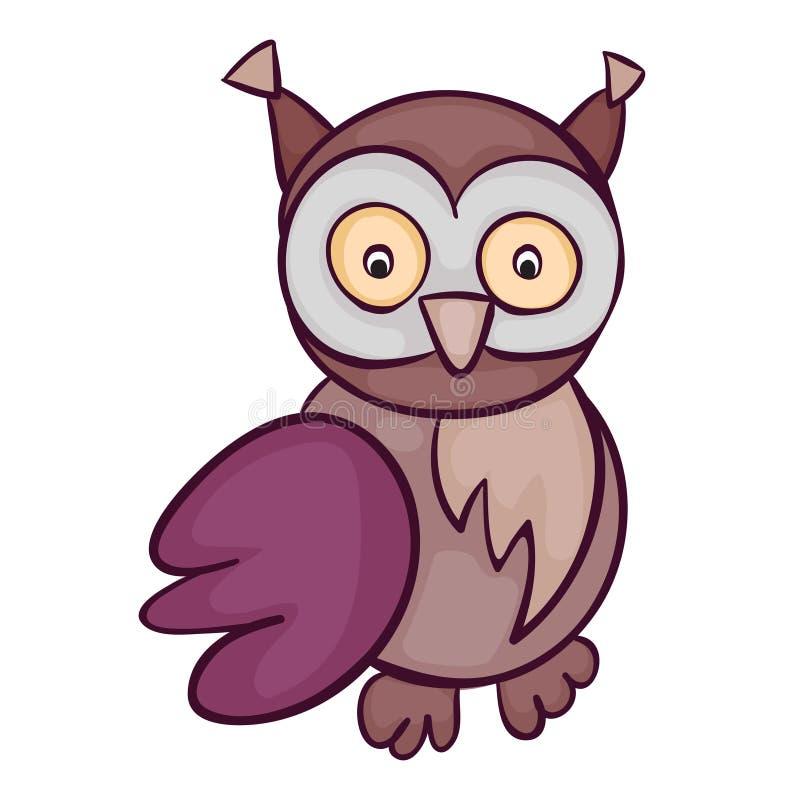 逗人喜爱的猫头鹰动画片 图库摄影