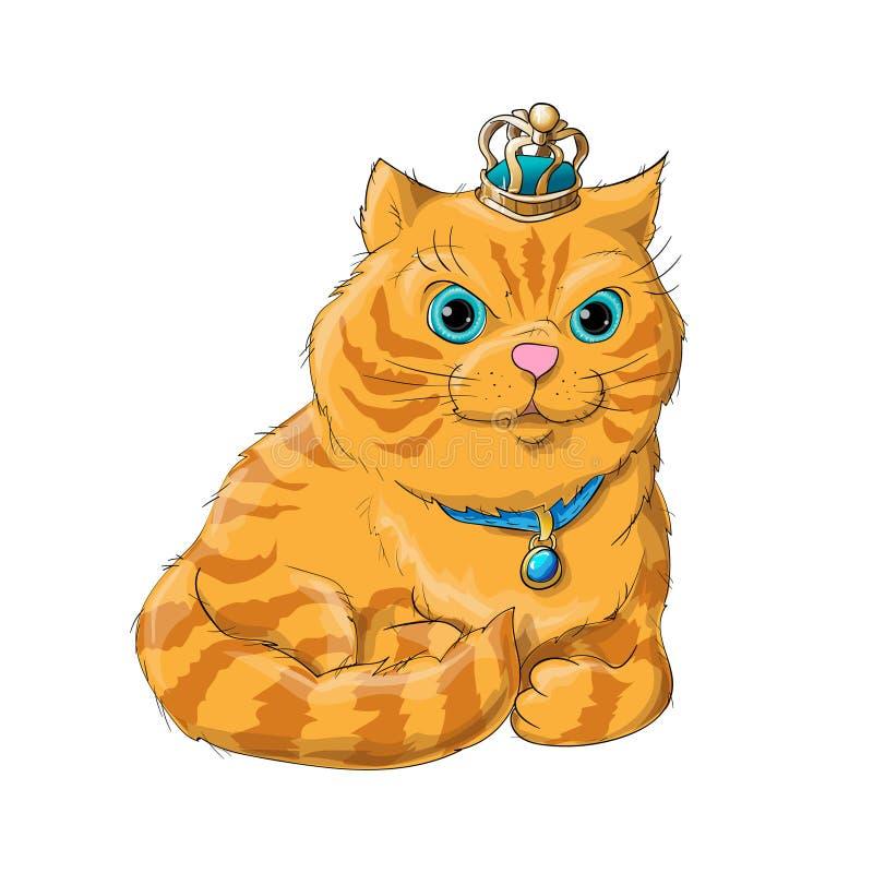逗人喜爱的猫 库存例证
