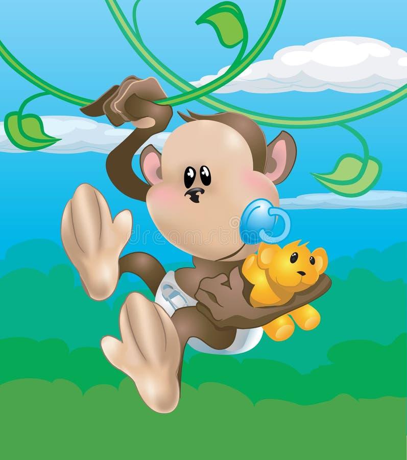 逗人喜爱的猴子 库存例证