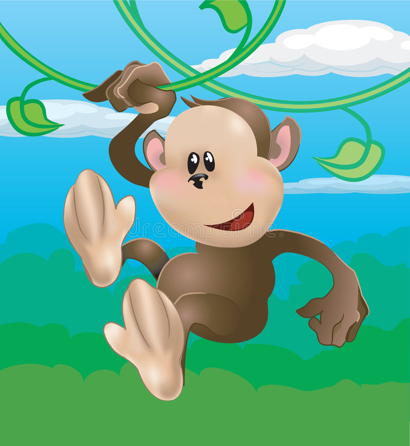 逗人喜爱的猴子 皇族释放例证