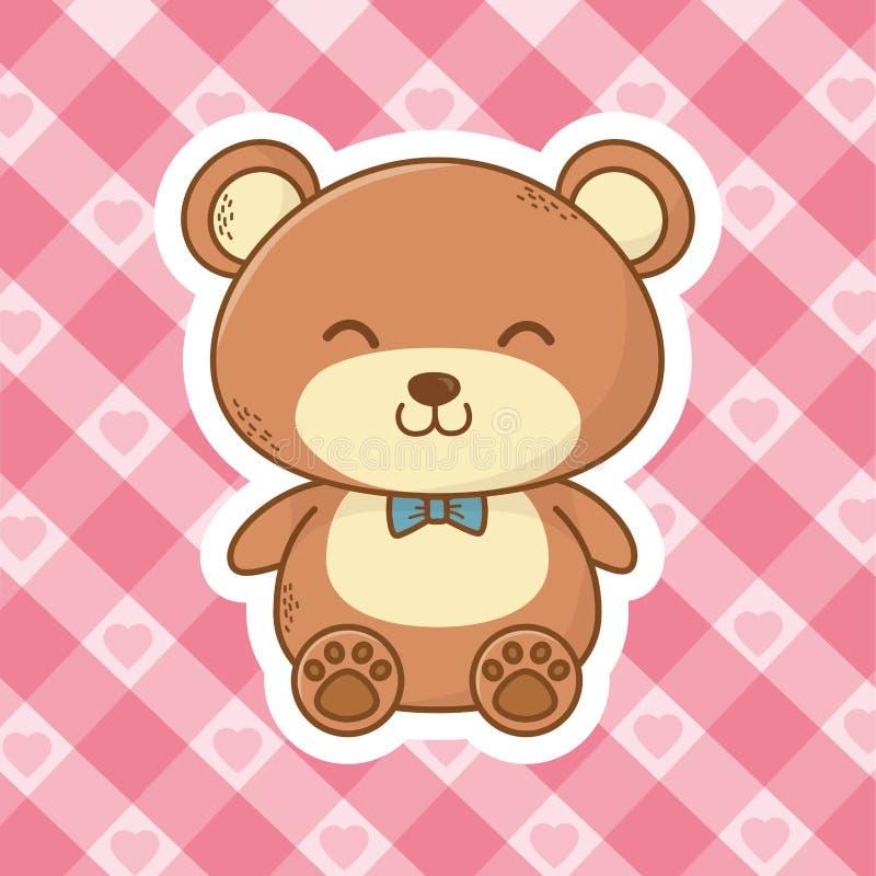 逗人喜爱的玩具熊动画片 皇族释放例证
