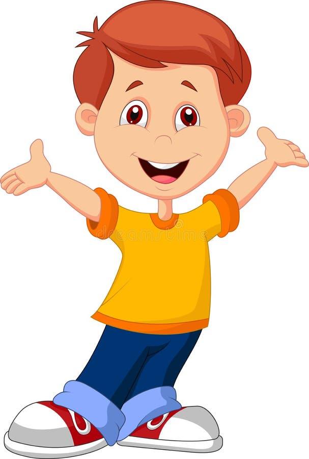 逗人喜爱的男孩动画片 向量例证