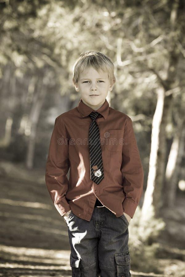 逗人喜爱的男孩 免版税图库摄影
