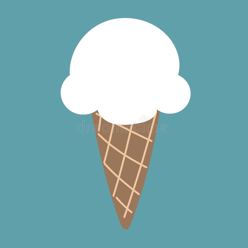 逗人喜爱的白色冰淇凌飞行喜欢云彩 皇族释放例证