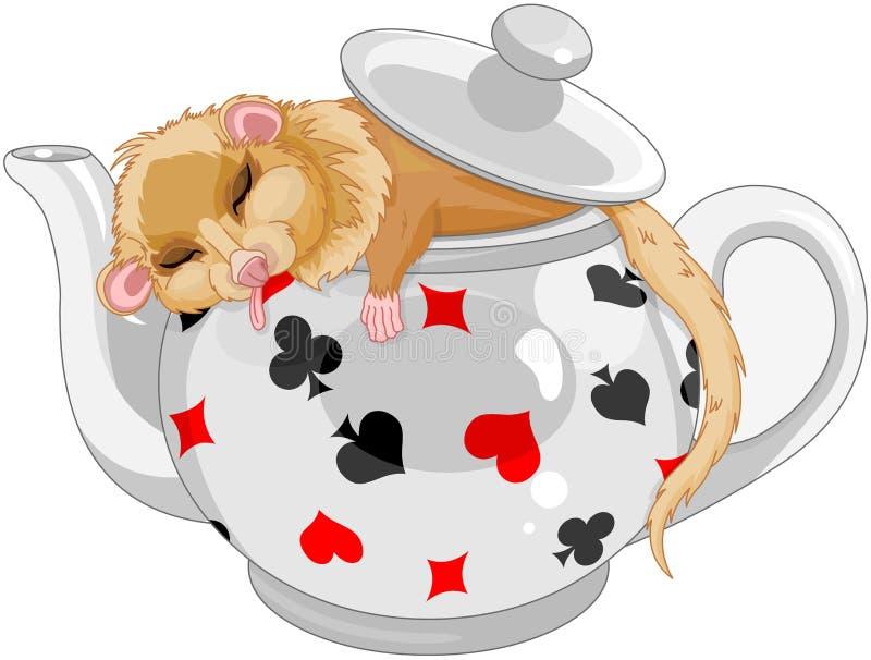 逗人喜爱的睡鼠 向量例证