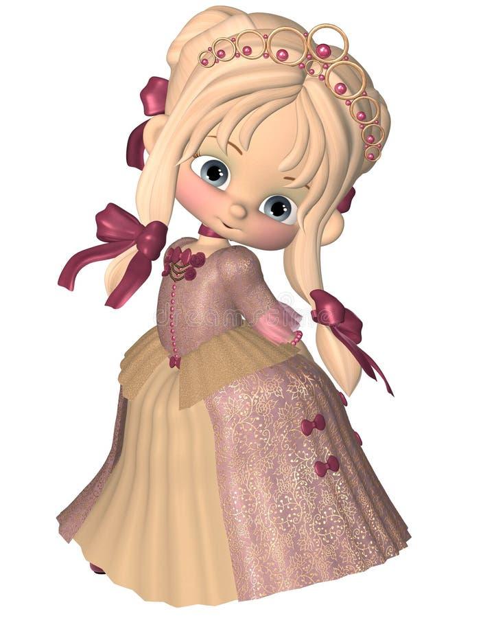 逗人喜爱的矮小的印度桃花心木公主 向量例证