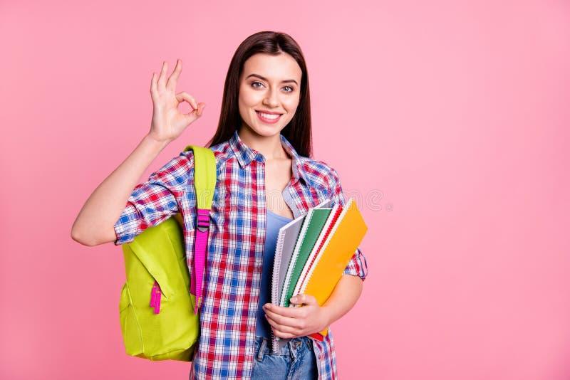 逗人喜爱的确信的优等的好青少年的少年高中人画象推荐学会选择劝告决定 库存图片