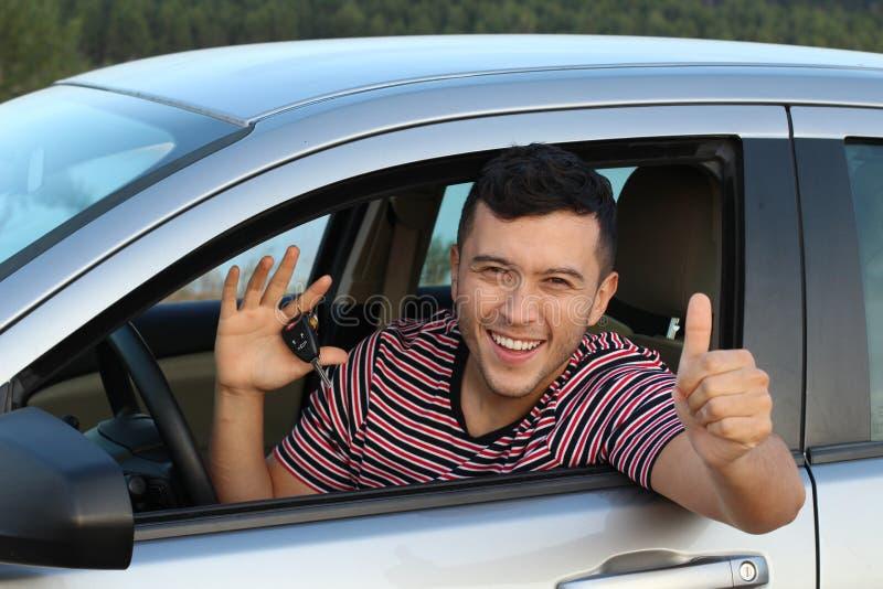 逗人喜爱的种族司机藏品汽车钥匙 库存照片