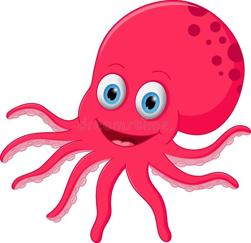 逗人喜爱的章鱼动画片 向量例证
