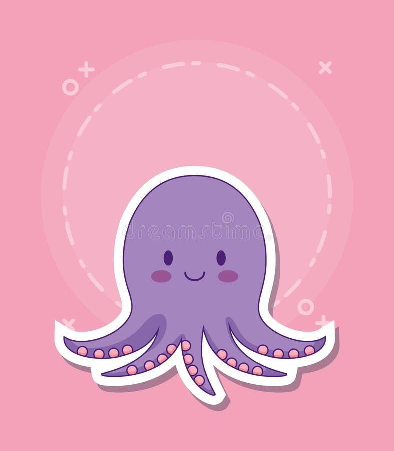 逗人喜爱的章鱼象 皇族释放例证