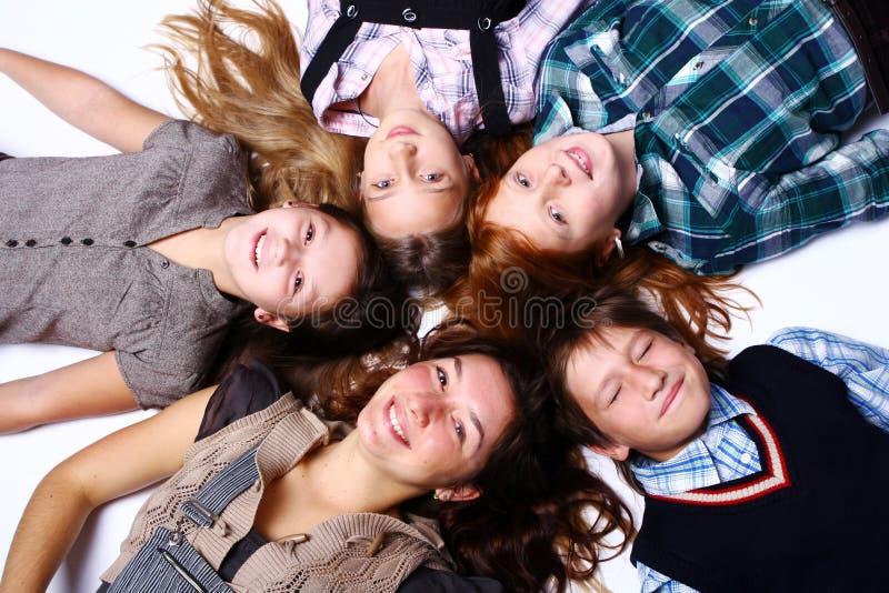 逗人喜爱的组愉快的孩子 库存照片