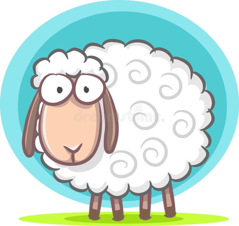 逗人喜爱的绵羊 皇族释放例证