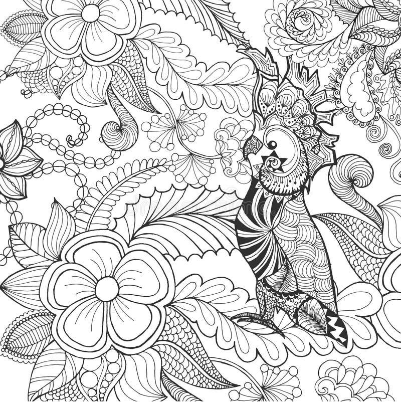 逗人喜爱的美冠鹦鹉着色页 向量例证