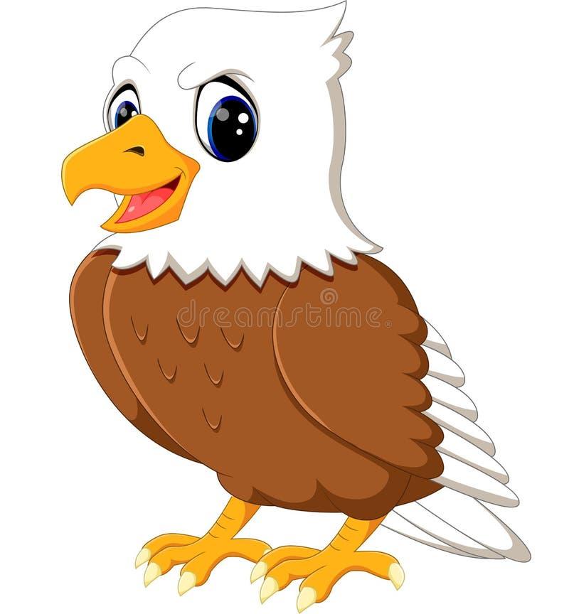 逗人喜爱的老鹰动画片 库存例证