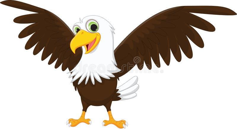 逗人喜爱的老鹰动画片 库存照片