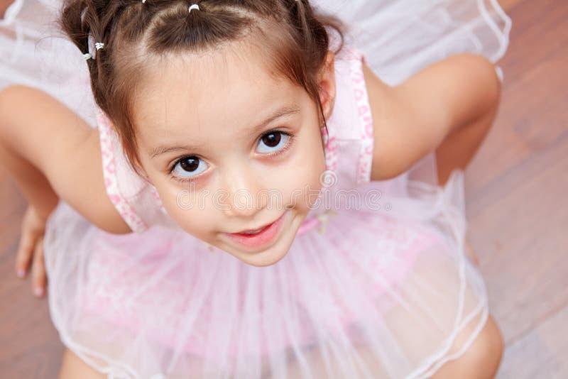 逗人喜爱的芭蕾舞女演员 库存照片