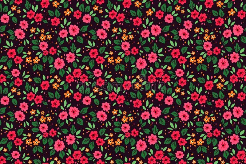逗人喜爱的花卉模式 库存照片