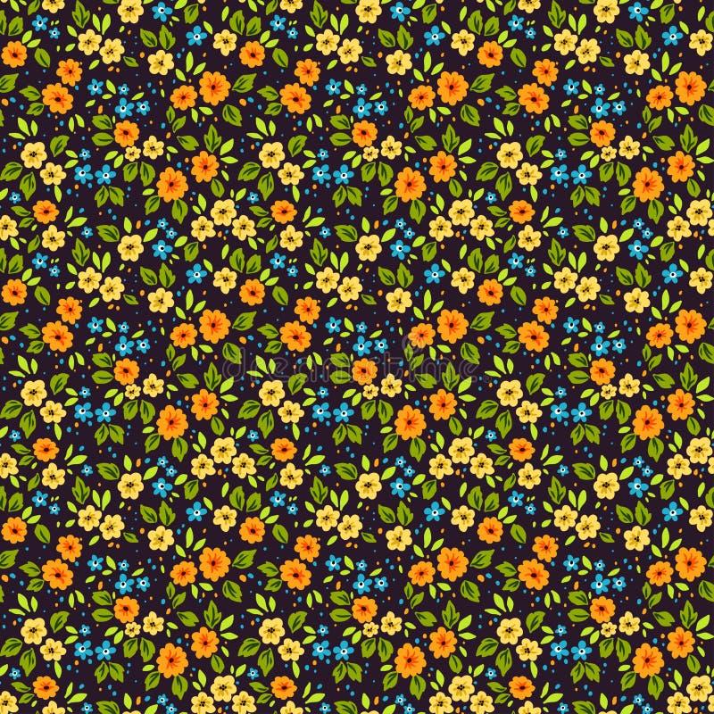 逗人喜爱的花卉模式 免版税图库摄影