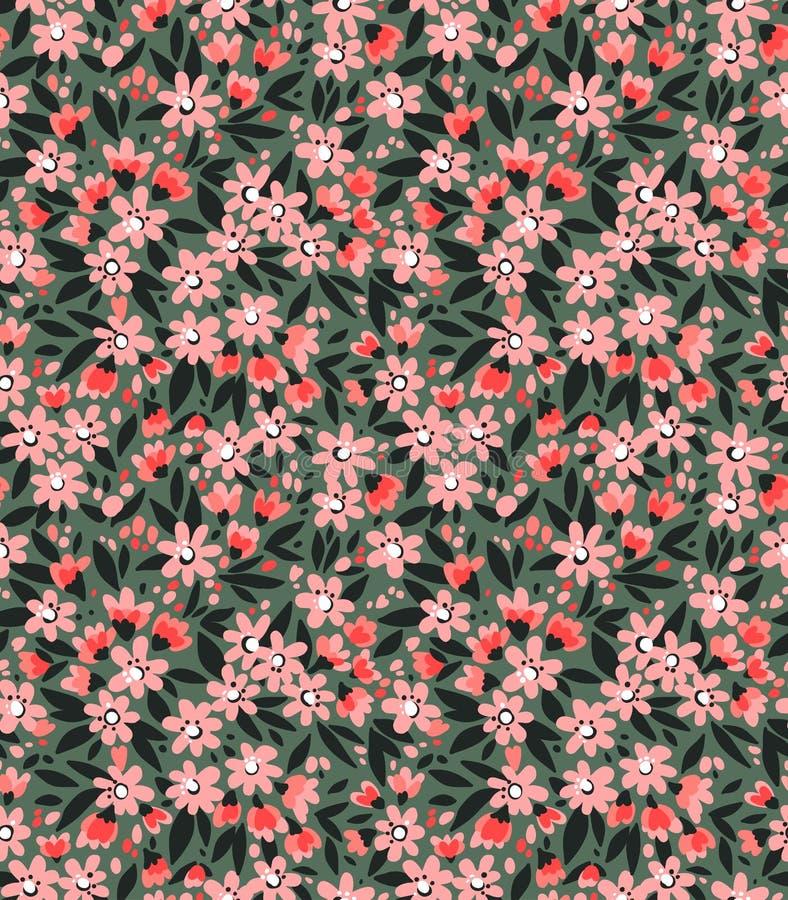 逗人喜爱的花卉模式 库存图片
