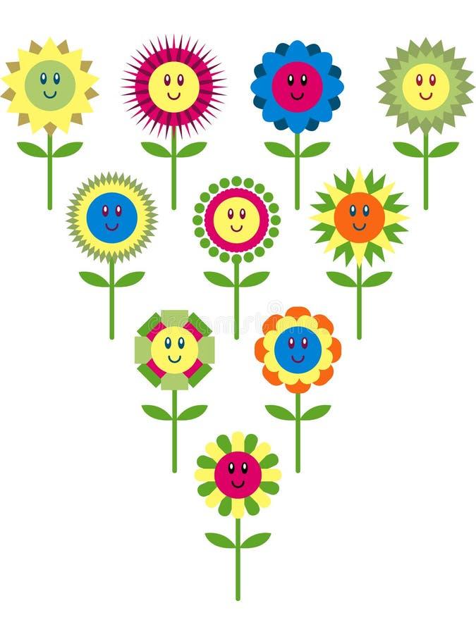 逗人喜爱的花差异 向量例证