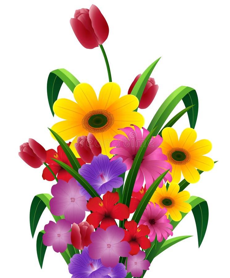逗人喜爱的花花束 库存例证