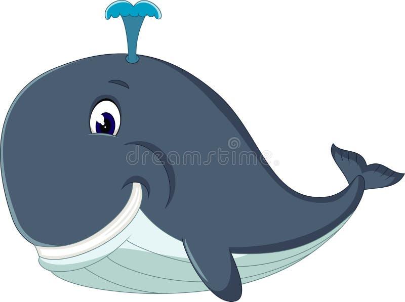 逗人喜爱的虎鲸动画片 库存例证