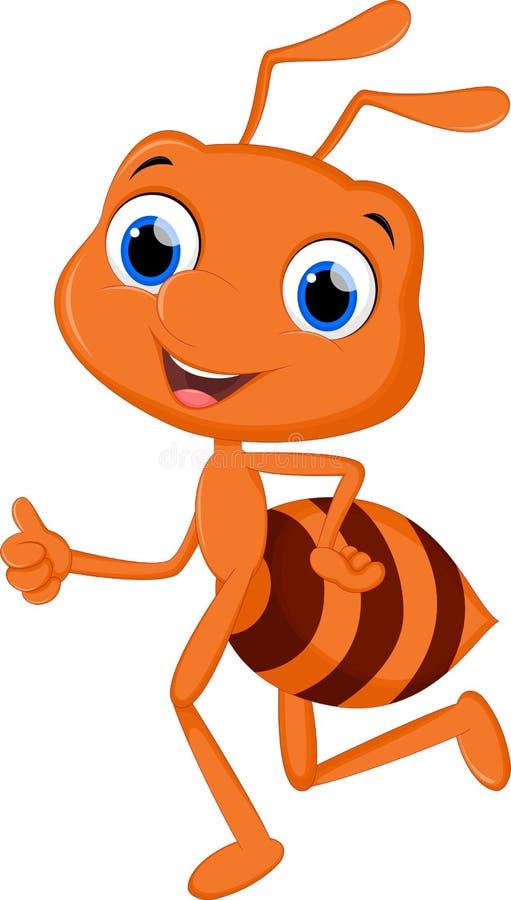 逗人喜爱的蚂蚁动画片赛跑 向量例证