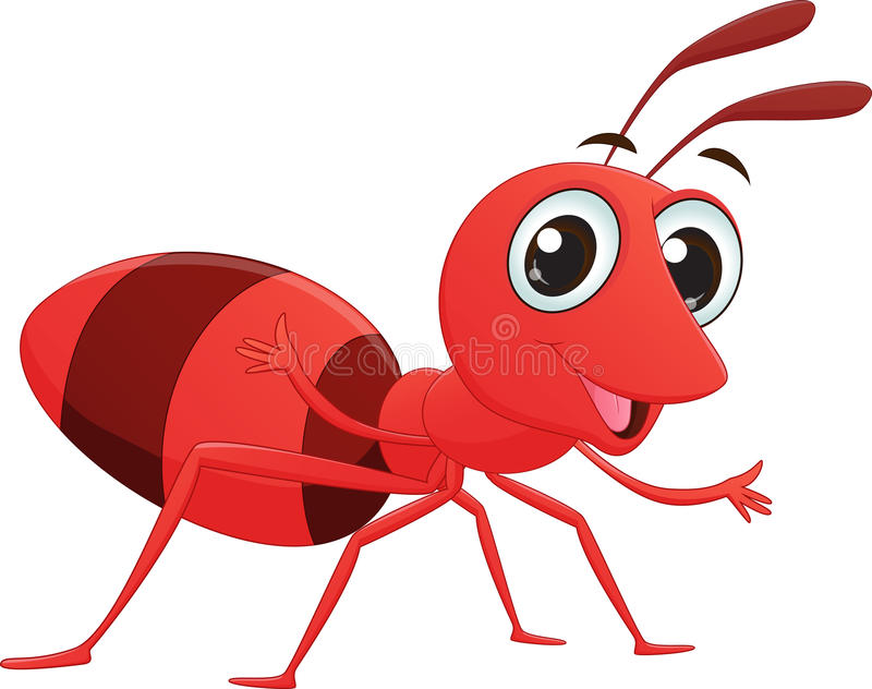 逗人喜爱的蚂蚁动画片 皇族释放例证