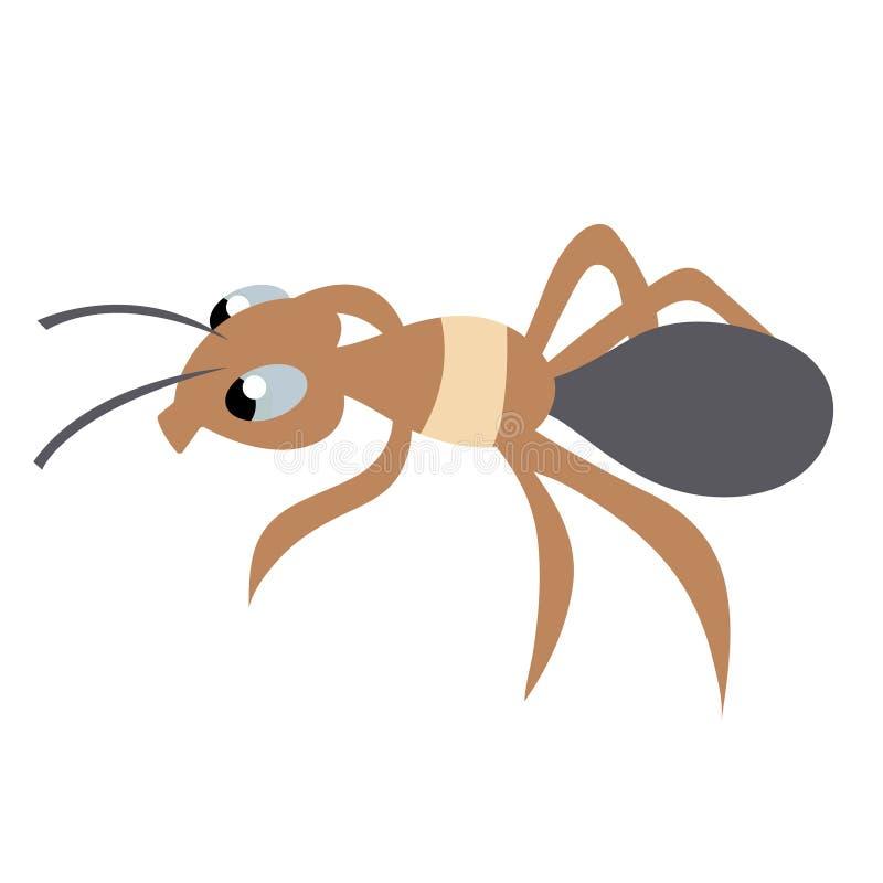 逗人喜爱的蚂蚁 被隔绝的储蓄传染媒介例证 皇族释放例证