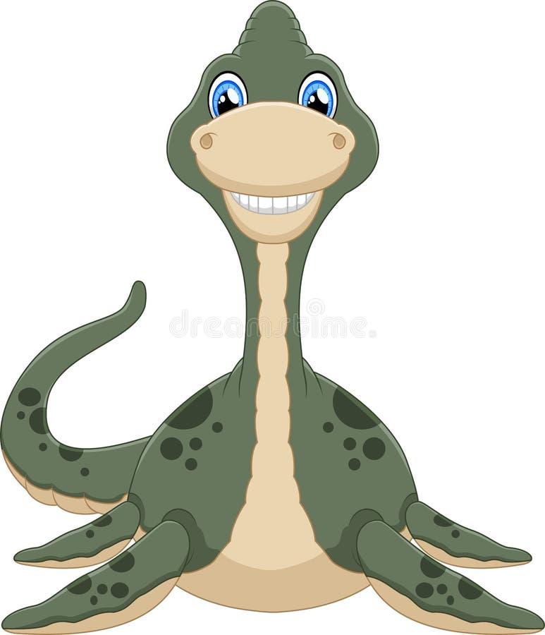 逗人喜爱的蛇颈龙动画片的例证图片