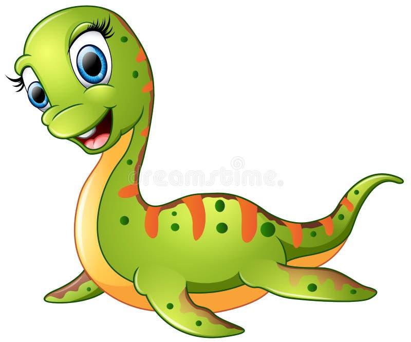 逗人喜爱的蛇颈龙动画片图片