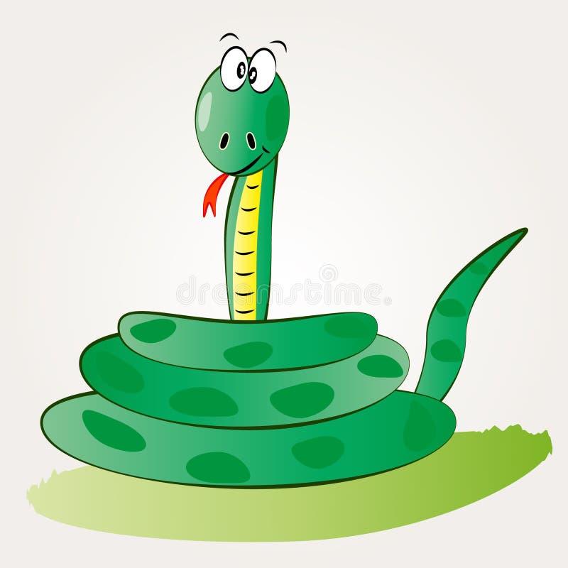逗人喜爱的蛇 向量例证