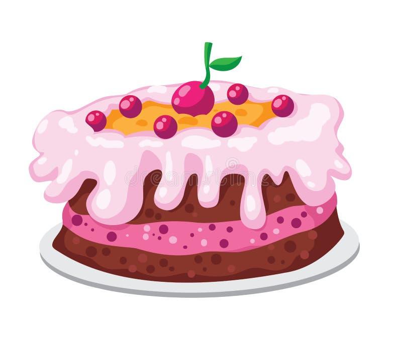 逗人喜爱的蛋糕 向量例证