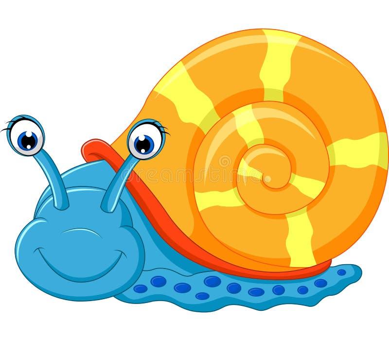 逗人喜爱的蜗牛动画片赛跑 皇族释放例证
