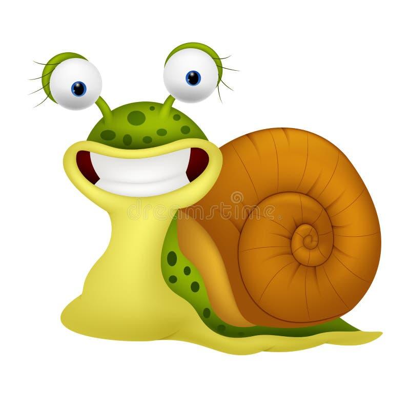 逗人喜爱的蜗牛动画片 向量例证