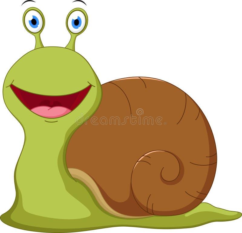 逗人喜爱的蜗牛动画片 皇族释放例证