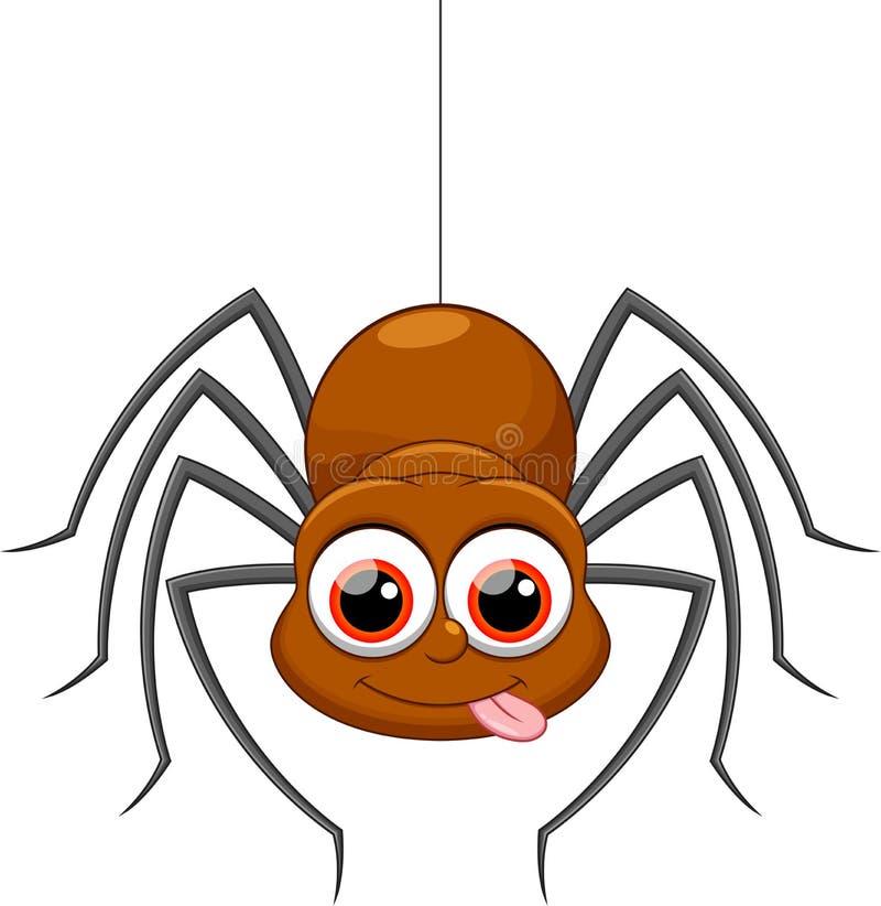 逗人喜爱的蜘蛛动画片 库存例证