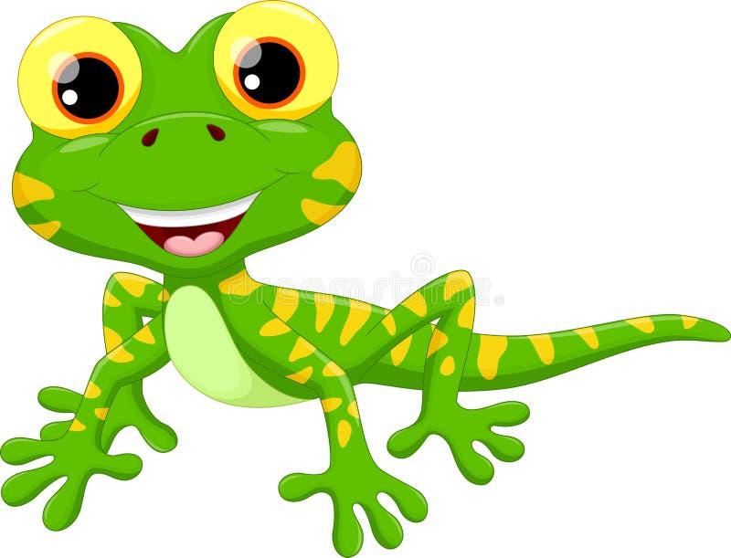逗人喜爱的蜥蜴动画片 向量例证