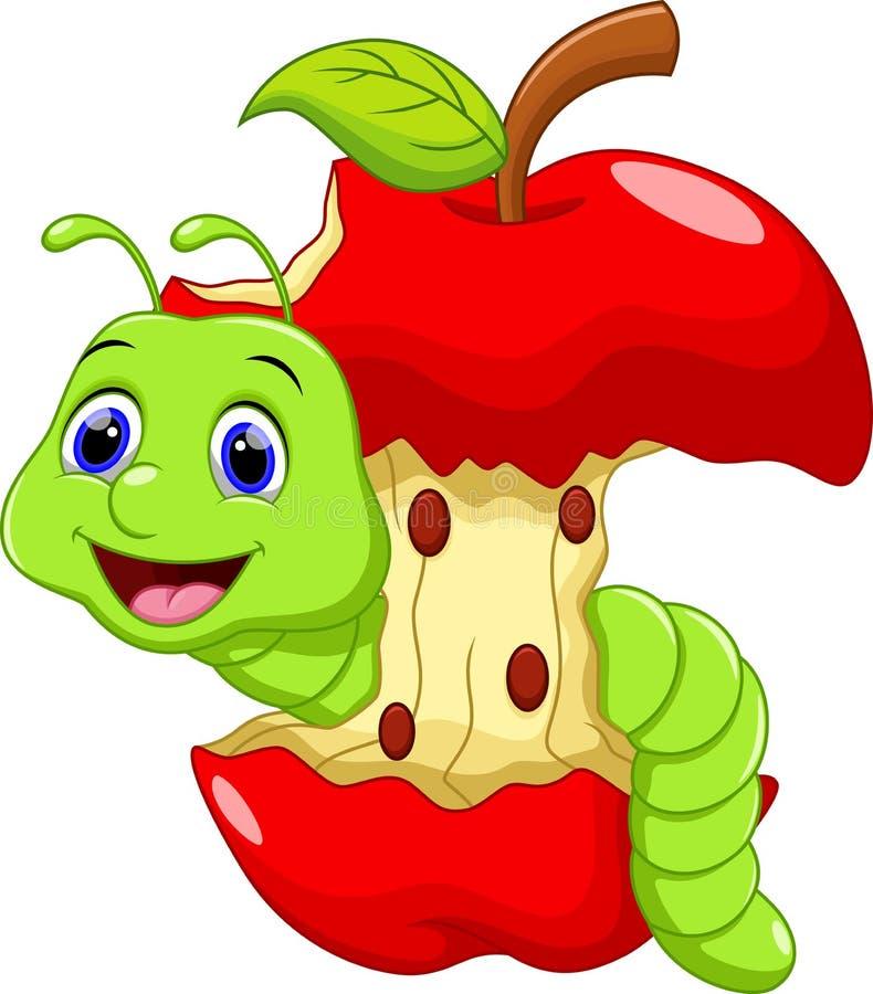 逗人喜爱的蠕虫动画片 皇族释放例证