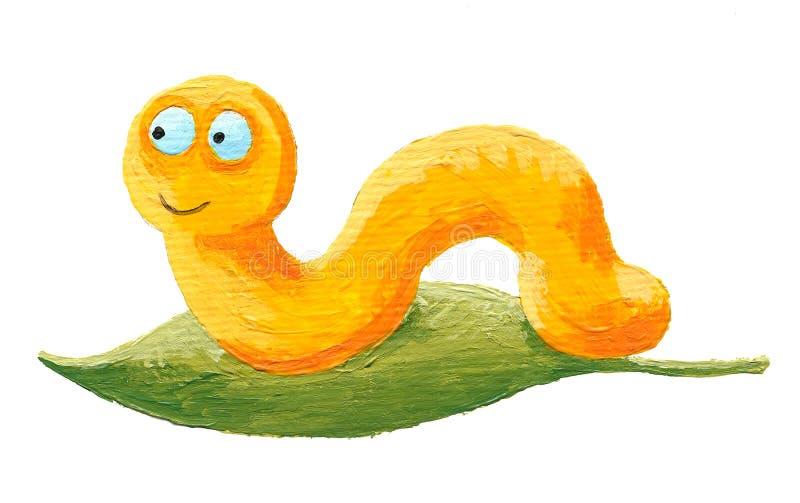 逗人喜爱的蠕虫黄色