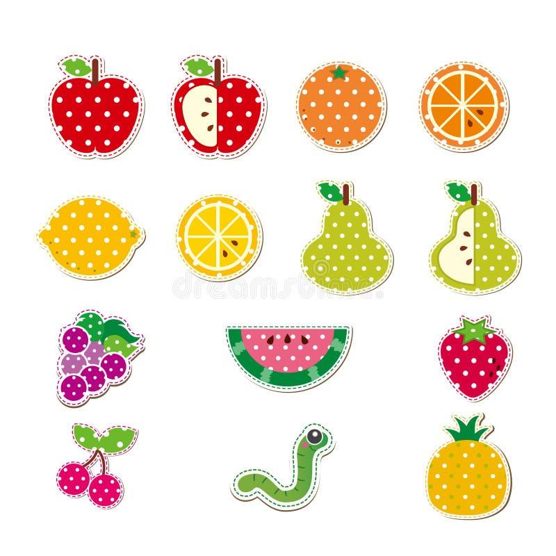 逗人喜爱的被缝的果子 免版税库存图片