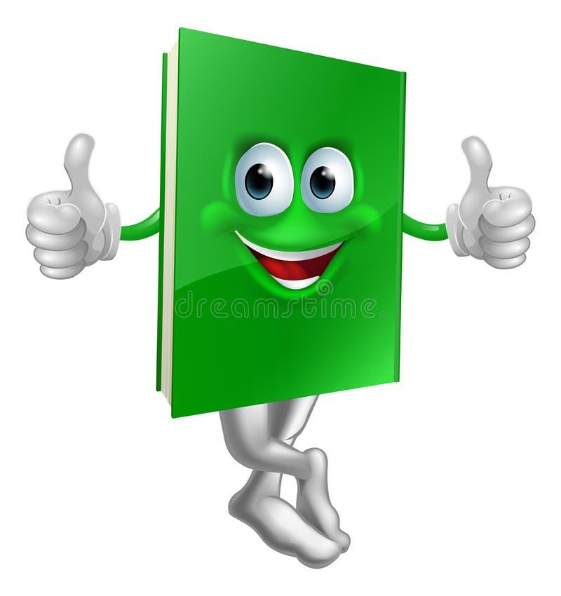 逗人喜爱的赞许绿皮书字符 库存例证